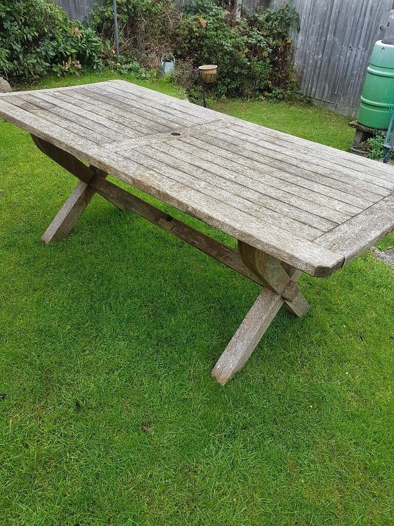 Solid garden table for sale