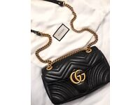 Gucci Marmont medium handbag in black leather