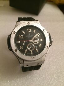BrandNew Silver Hublot automatic sweeping movement