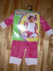 Costume Halloween petit caniche rose (Pink Poodle) gr. 12-18m