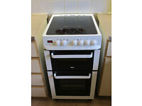 Electric double oven cooker with ceramic top, 50 cm wide