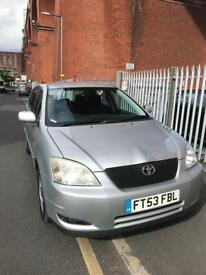 TOYOTA COROLLA T3 1.6 VVTI 5DR SILVER 1 OWNER FROM NEW LONG MOT 2 KEYS 2004