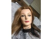 Hair Tools Hairdressers Doll Practice Head Real Human Hair