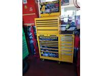 Mac tools tool box with side cabinet