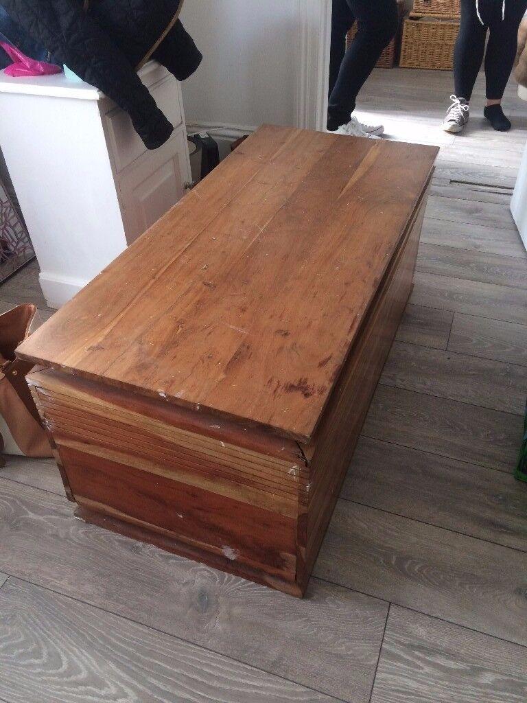 Large wooden ottoman storage item kids room/window seat/store/toy box /shoe tidy