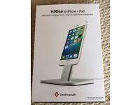 HiRise for iPhone + iPad adjustable charging stand - as new - never used - Bargain!