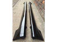 Ford Fiesta ST SIDESKIRTS with JACK POINT COVERS Black (02 - 08) Zetec S Breaking Spares mk6