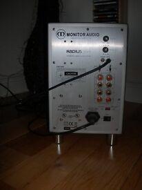 Silver Monitor Audio Radius 360 Subwoofer £100 ono