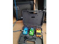 Boss pedal case + pedals