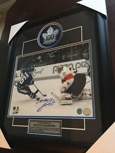 Signed and framed Mitch Marner Toronto Maple Leafs with COA