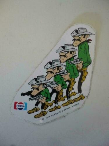 Sticker Lucky Luke ( de daltons ) pepsi 1978