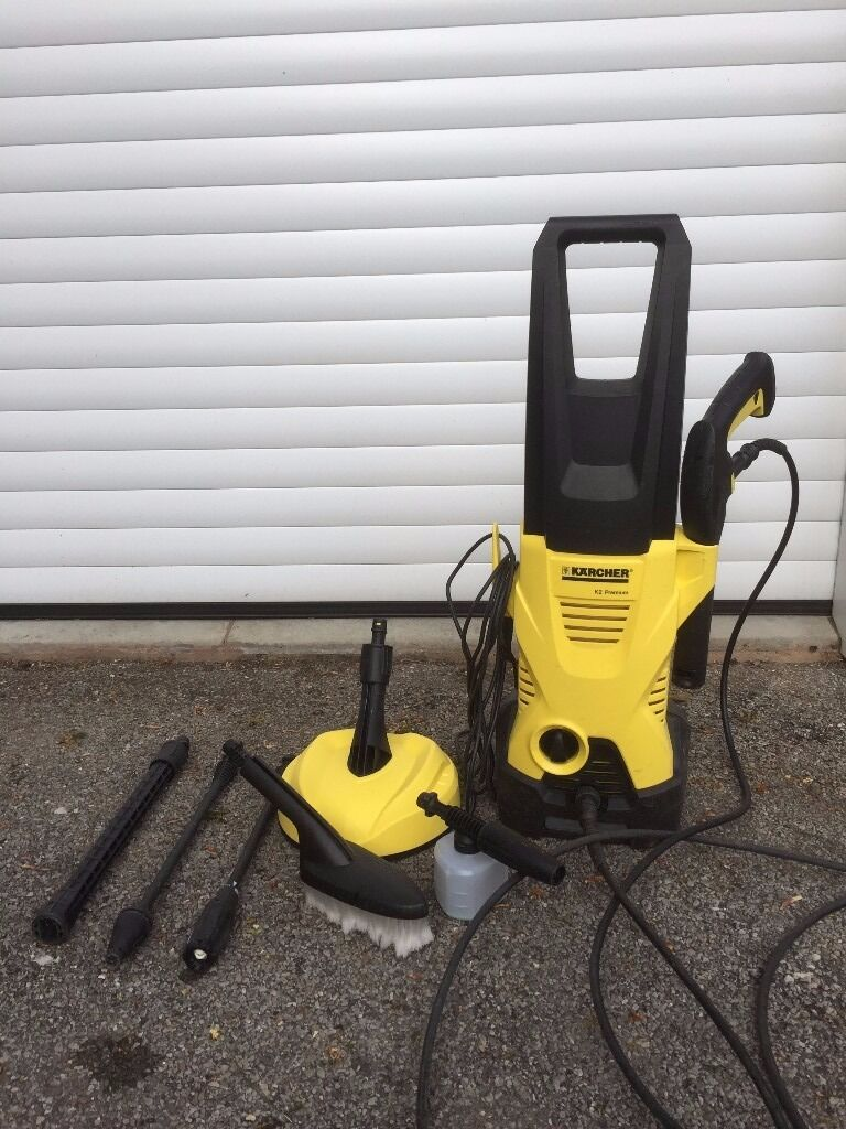 karcher k2 premium home and car pressure washer patio deck cleaner car wash foam nozzle brush. Black Bedroom Furniture Sets. Home Design Ideas
