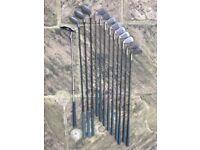 Dunlop HPC Graphite Shaft Golf Set - 9 irons, 3 woods, 1 putter and a bag