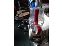 KITCHEN AID ARTISAN FOOD PROCESSOR FOR SALE COMES WITH ACCESSORIES STORED IN PLASTIC CONTAINER