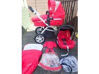 Mothercare My 3 Travel System Pushchair/Pram/Car Seat