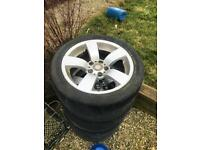 Genuine BMW E60 SE alloys with tyres