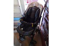 Silvercross travel system - pushchair, pram, car seat and bag - used