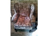 1 Queen Anne Style Chair And 1 Swivel Office Chair