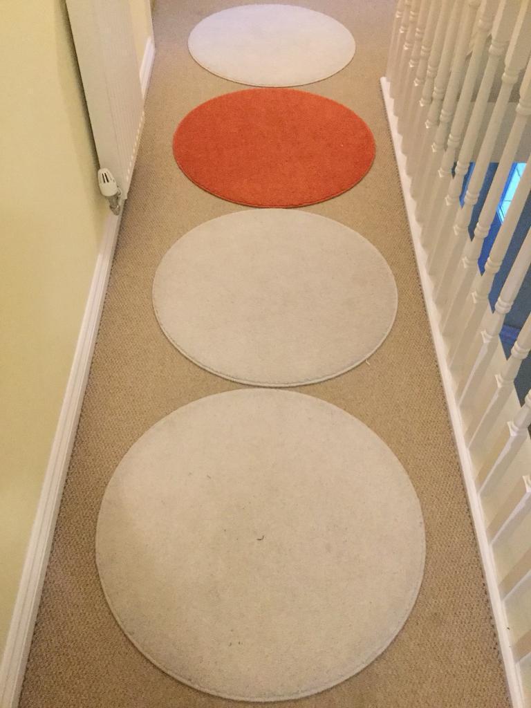 Ikea Ringum Round Circular Rugs 70cm In