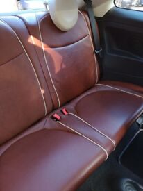 RARE MODEL fiat 500 1.3 multijet diesel full tan leather interior, excellent condition throughout