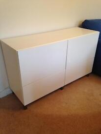 Ikea gloss white units