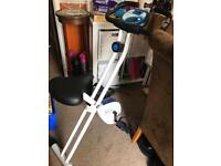 Folding indoor exercise bike