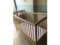 Great condition cot and mattress