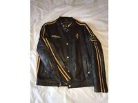 Tommy Hilfiger Men Bike Biker Genuine Leather Jacket Size L
