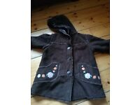 Brown fur lined girls jacket from boots aged 3-4