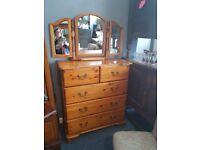 Pine 5 Drawers