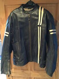 Halvarsson Thunder Classic XXXL Leather Motorcycle Jacket