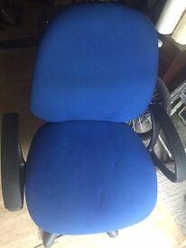 Blue office swivel chair