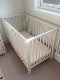 Ikea Sniglar cot and Vyssa mattress