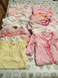 Large bundle of baby girls clothes 3-6 months