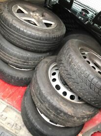 10 steel wheels 1 alloy wheel all with good tyres