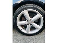 5 spoke genuine Audi Wheel with good tyres