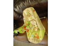 fisher price baby bouncer with mobile & vibrating cushion