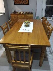 Solid Yellow Wood Dining Room Furniture