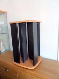 Revolving CD tower, wooden