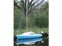 Hunter Europa MKII Sailing Boat and Trailer