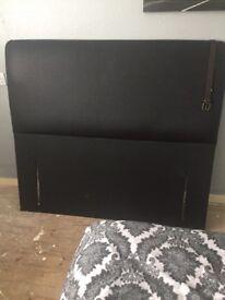 Double leather headboard