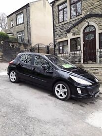 peugeot 308 five door in black