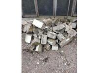 Breeze blocks and rubble