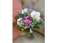 Hand Tied Silk Wedding Bridal Bouquet - Artificial Flowers