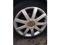 "Audi 18"" Alloys x 4 with good tyres."