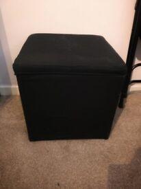 Footstool - black 36 x 36 cm