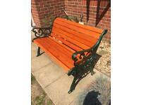 Cast Iron Garden Bench, Fleur De Lis style