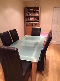 Frosted Glass Dining Table (La Galleria)