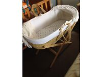 Baby Moses basket with mattress