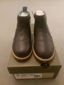 Boys Timberland Navy Leather Boots